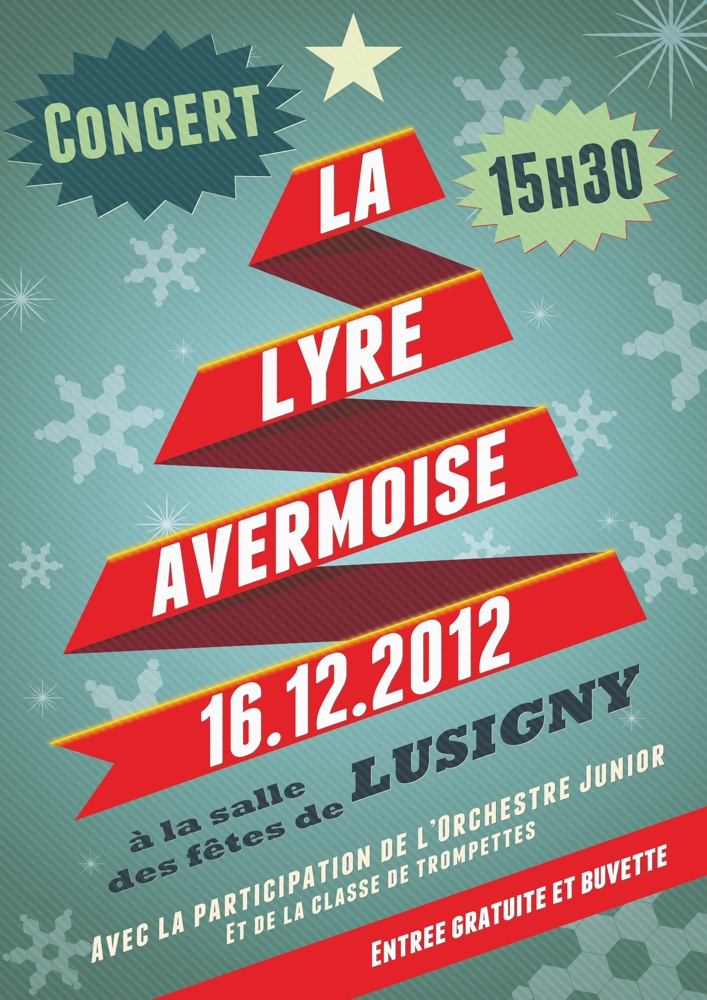 affiche noel Affiche concert de Noël Lusigny (petit) | LA LYRE AVERMOISE affiche noel